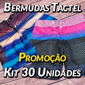Kit 30 UN - Bermudas Tactel - Marcas Variadas