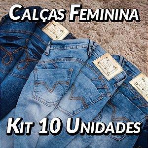 Kit 10 Calças JEans Femininas - Pit Bull