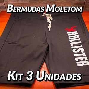 Bermudas Moleton - 3 UN - Marcas Variadas - Roupas no Atacado