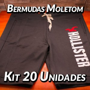 Bermudas Moleton - 20 UN - Marcas Variadas - Roupas no Atacado