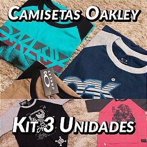 Kit 3 UN - Camiseta Oakley - Roupas no Atacado