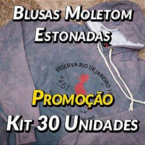 Blusas Moleton Estonadas - 30 UN - Marcas Variadas - Roupas no Atacado