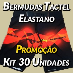 Kit 30 UN - Bermudas Tactel Elastano - Marcas Variadas - Roupas no Atacado