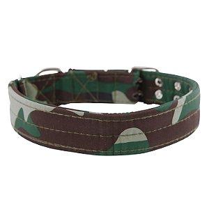 Coleira Nylon Army Para Cães - Modelo Camuflagem - Tamanho GG