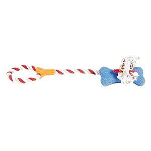 Brinquedo de Corda Com Osso Para Cães