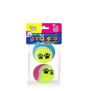 Brinquedo Bola de Tênis Médio Para Cães Dog's Toy - 2 Unidades