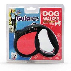 Guia Retrátil Dog Walker High Premium - 3 Metros