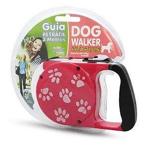 Guia Retrátil Dog Walker Fita Plus - 3 Metros