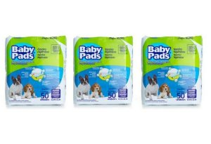 Tapete Higiênico Baby Pads Para Cães - 150 Unidades - Kit com 3 Pacotes