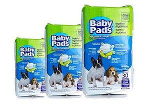 Tapete Higiênico Baby Pads Para Cães - 90 Unidades - Kit com 3 Pacotes