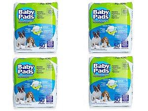 Tapete Higiênico Baby Pads Para Cães - 200 Unidades - Kit com 4 Pacotes