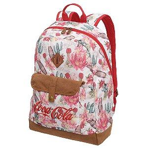 Mochila Feminina Notebook Adulto Juvenil Coca Cola Desert Floral