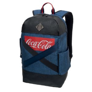 Mochila Masculina Juvenil Notebook Coca Cola Denim Pro