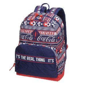 Mochila Notebook Adulto Juvenil Coca-Cola Stripes Azul