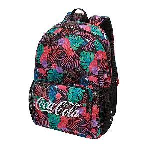 Mochila Feminina Notebook Adulto Juvenil Coca-Cola Neon