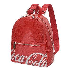 Bolsa Mochila Costas Feminina Coca-Cola Shine Vermelha