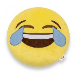 Almofada Decorativa Criativa Ludi Emoji Chorando de Rir