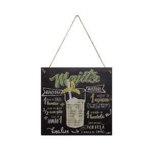 Placa Decorativa Mojito