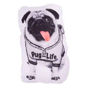 Almofadinha Decorativa Criativa Shape Pet Pug Life Uatt