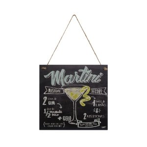 Placa Decorativa MDF e Sisal Uatt Martini