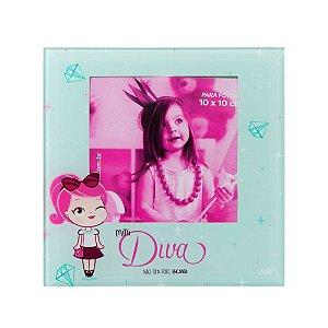 Porta Retrato de Vidro Uatt Mini Diva 13x13cm