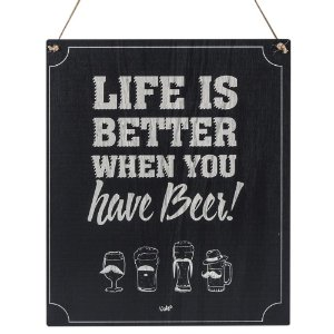 Placa Decorativa MDF e Sisal Uatt Have Beer