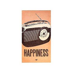 Quadro de Tecido Canvas Happiness