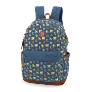 Mochila Escolar Feminina Adulto Juvenil Notebook Snoopy Personagens Azul