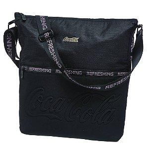 Bolsa Transversal Feminina Coca-Cola Active Preta