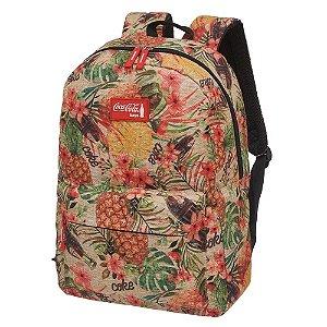 Mochila Escolar Feminina Juvenil Coca-Cola Pineapple