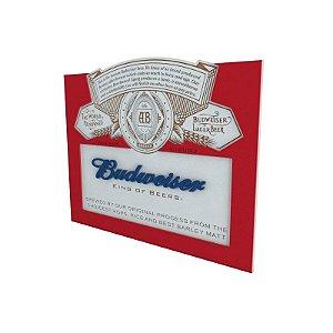 Quadro Decorativo Alto Relevo Laqueado Budweiser