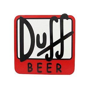 Placa Decorativa MDF Alto Relevo Laqueada Cerveja Duff Beer