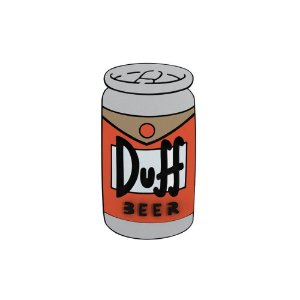 Placa Decorativa Alto Relevo Laqueada Cerveja Lata Duff