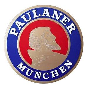 Placa Decorativa Alto Relevo Laqueada Cerveja Paulaner