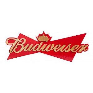 Placa Decorativa Alto Relevo Laqueada Cerveja Budweiser