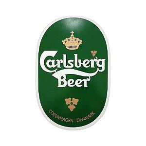 Placa Decorativa Alto Relevo Laqueada Cerveja Carlsberg