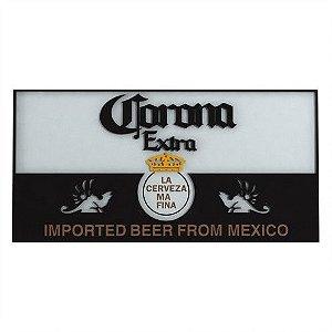 Quadro Decorativo Alto Relevo Laqueado Cerveja Corona