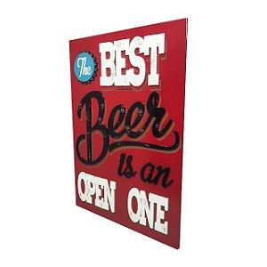 Quadro Decorativo Alto Relevo Laqueado Best Beer