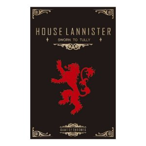 Quadro Decorativo MDF Alto Relevo Game of Thrones Lannister