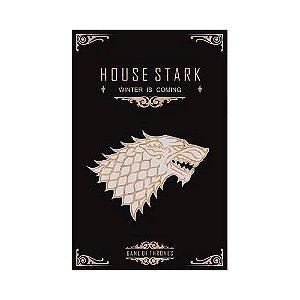 Quadro Decorativo Alto Relevo Laca Game of Thrones Stark