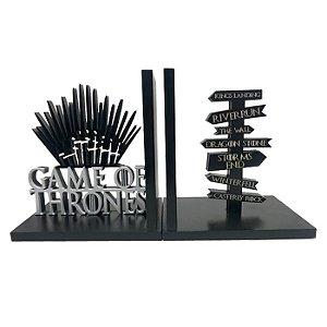 Suporte Aparador de Livros MDF Geek Game Off Thrones