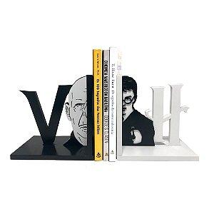 Suporte Aparador de Livros MDF Geek Harry x Valdemort