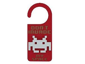 Aviso de Porta Criativo MDF Space