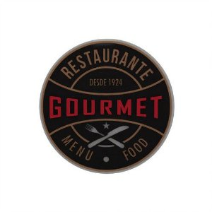 Placa Decorativa Alto Relevo Laqueada Gourmet Food