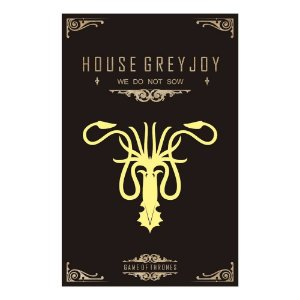 Quadro Decorativo MDF Alto Relevo Game of Thrones Greyjoy