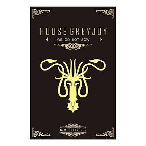 Quadro Decorativo MDF Alto Relevo Game of Thrones Greyjoy