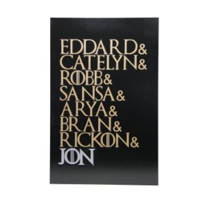 Quadro Decorativo MDF Game of Thrones Nomes