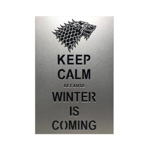 Quadro Decorativo MDF Game of Thrones Winter is Coming