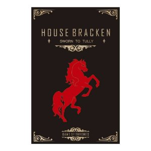 Quadro Decorativo MDF Alto Relevo Game of Thrones Braken