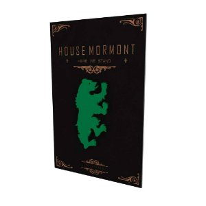 Quadro Decorativo MDF Alto Relevo Game of Thrones Mormont
